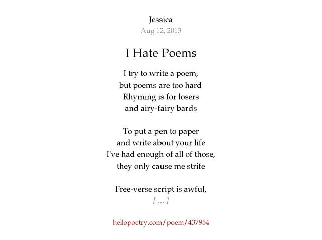 Image result for hate poem