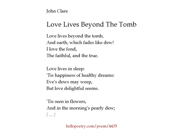 how do john clares first love This poem hit the spot mentally that is why well, when i first heard of the assignment i knew immediately what the poem had to convey: first love there is nothing sweeter, more captivating than that first glance at love.