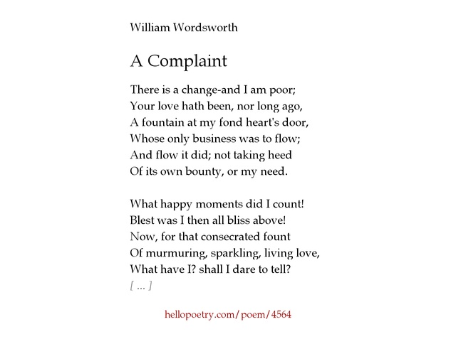 analysis william wordsworth and his poem michael Notes 1] concerning the poem wordsworth says: michael was founded on the son of an old couple having become dissolute, and run away from his parents and on an old shepherd having been seven years in building up a sheepfold in a solitary valley.