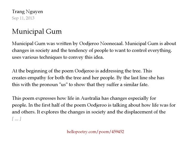 municipal gum poem