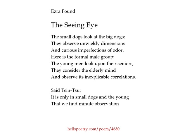 ezra pound poetry analysis Selected poems of ezra pound has 7,927 ratings and 79 reviews dolors said: life can give you unexpected gifts sometimes, such as this delicious selectio.