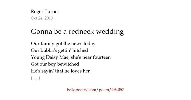 Gonna Be A Redneck Wedding By Roger Turner