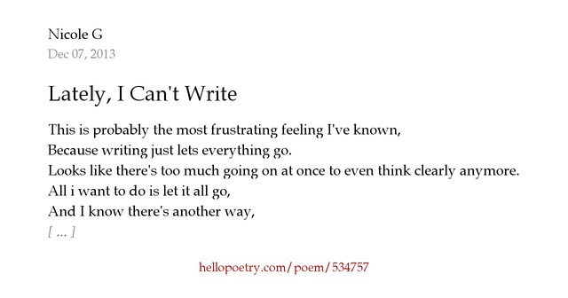 I can t write an essay