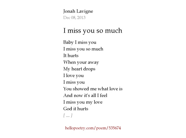 everyday power blog - Best 50+ I Miss You And Love You So Much Poems