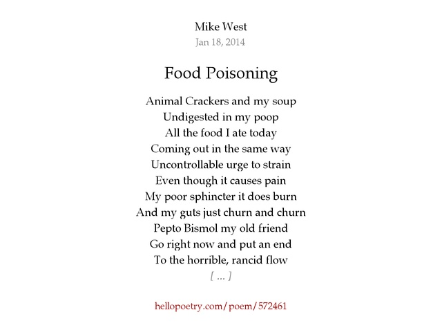 Funny Food Poisoning Poems