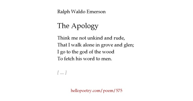 an analysis of the poet by ralph waldo emerson The the poetry of ralph waldo emerson community note includes chapter-by-chapter summary and analysis, character list, theme list, historical context, author.