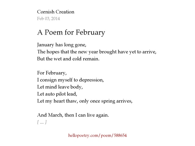 A Poem for February