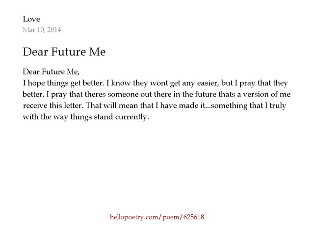 dear future me by love hello poetry