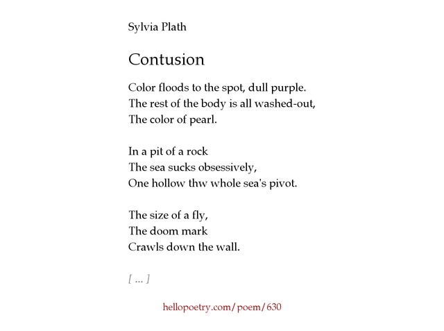 sylvia plaths poetry is dark and Sylvia plath - poet - the author of several collections of poetry and the novel the bell jar, sylvia plath is often singled out for the intense coupling of violent or.