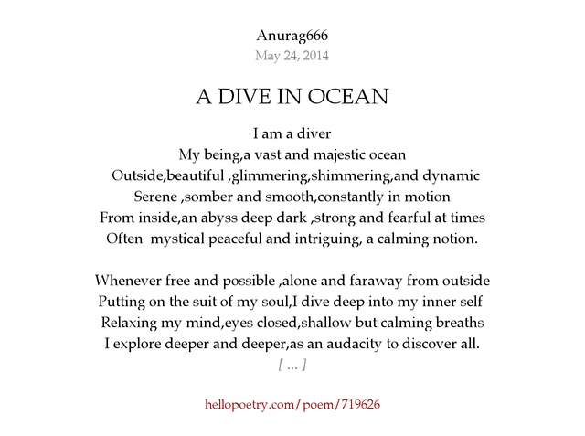A DIVE IN OCEAN by Anurag666 - Hello Poetry