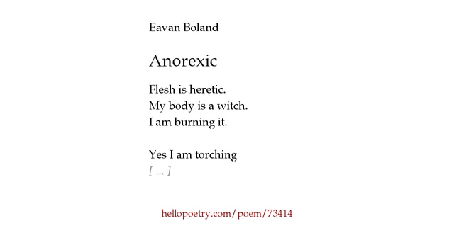 boland anorexic