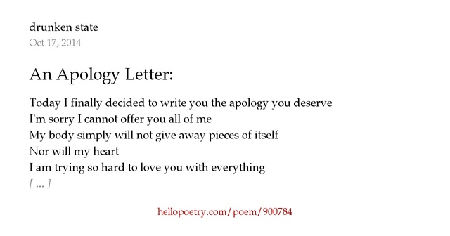 An Apology Letter by authentic Hello Poetry – Apology Love Letter