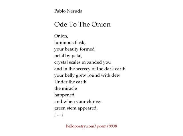 an analysis of ode to bees by pablo neruda