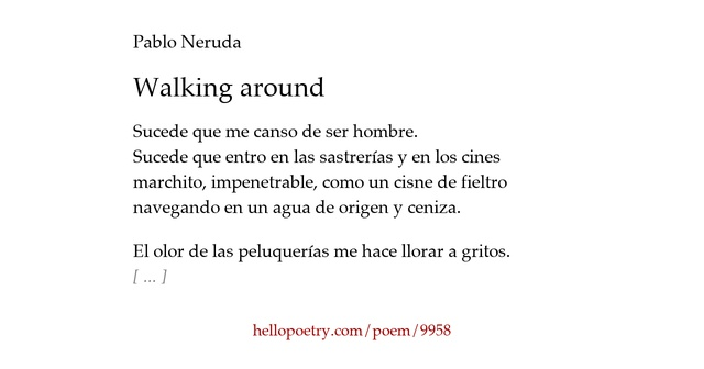the question by pablo neruda