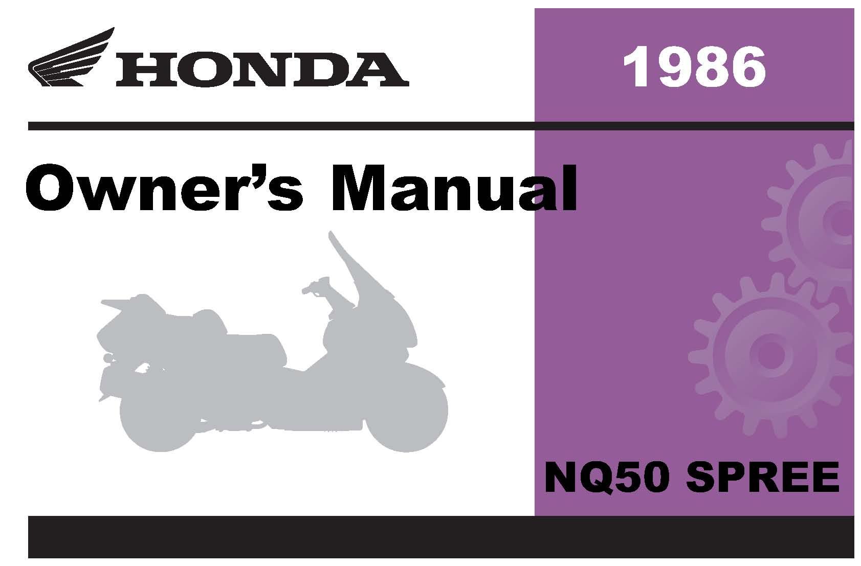 1986 honda spree repair manual best setting instruction guide u2022 rh ourk9 co