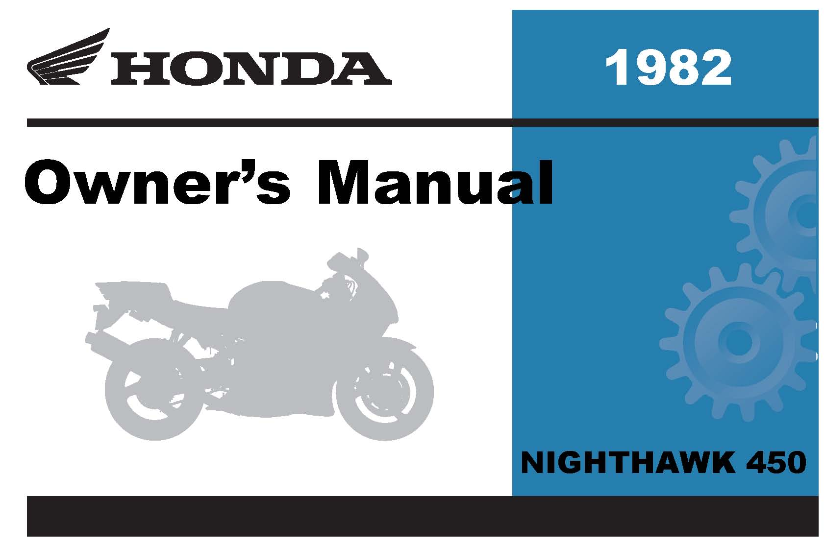 honda 1982 cb450sc nighthawk owner manual 82 ebay rh ebay com