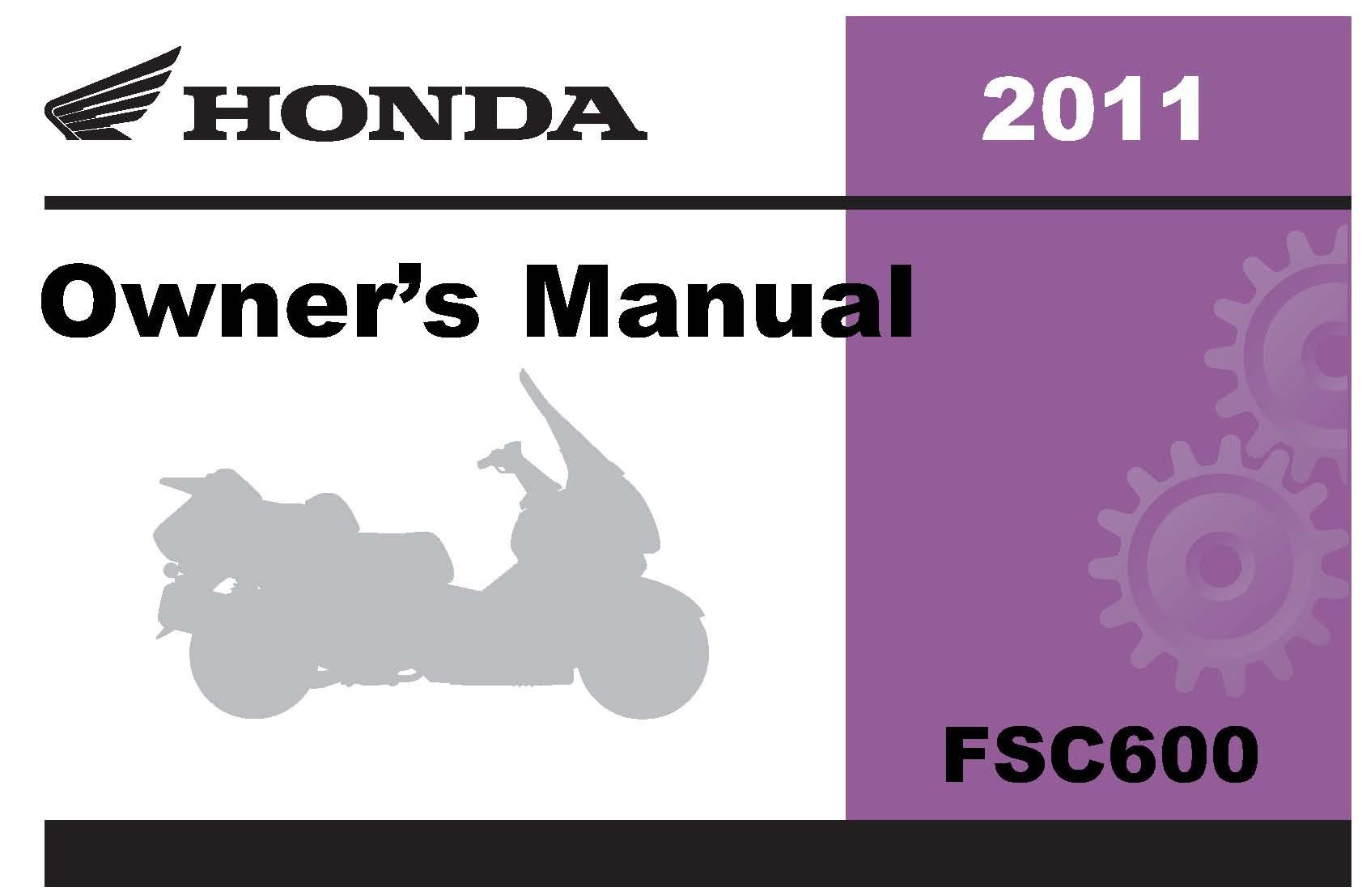 Honda 2011 FSC600/A Silverwing (A/CE) Owner Manual 11