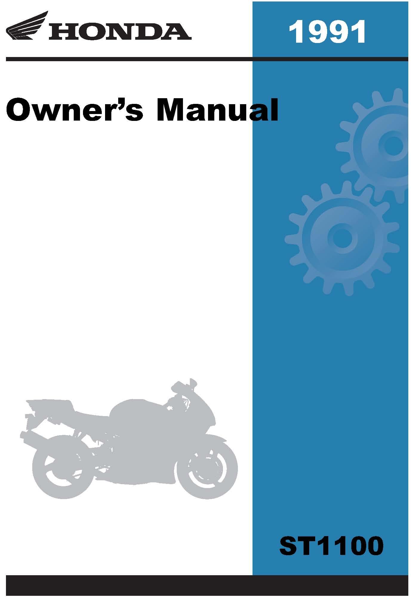 Honda 1991 ST1100 Owner Manual 91