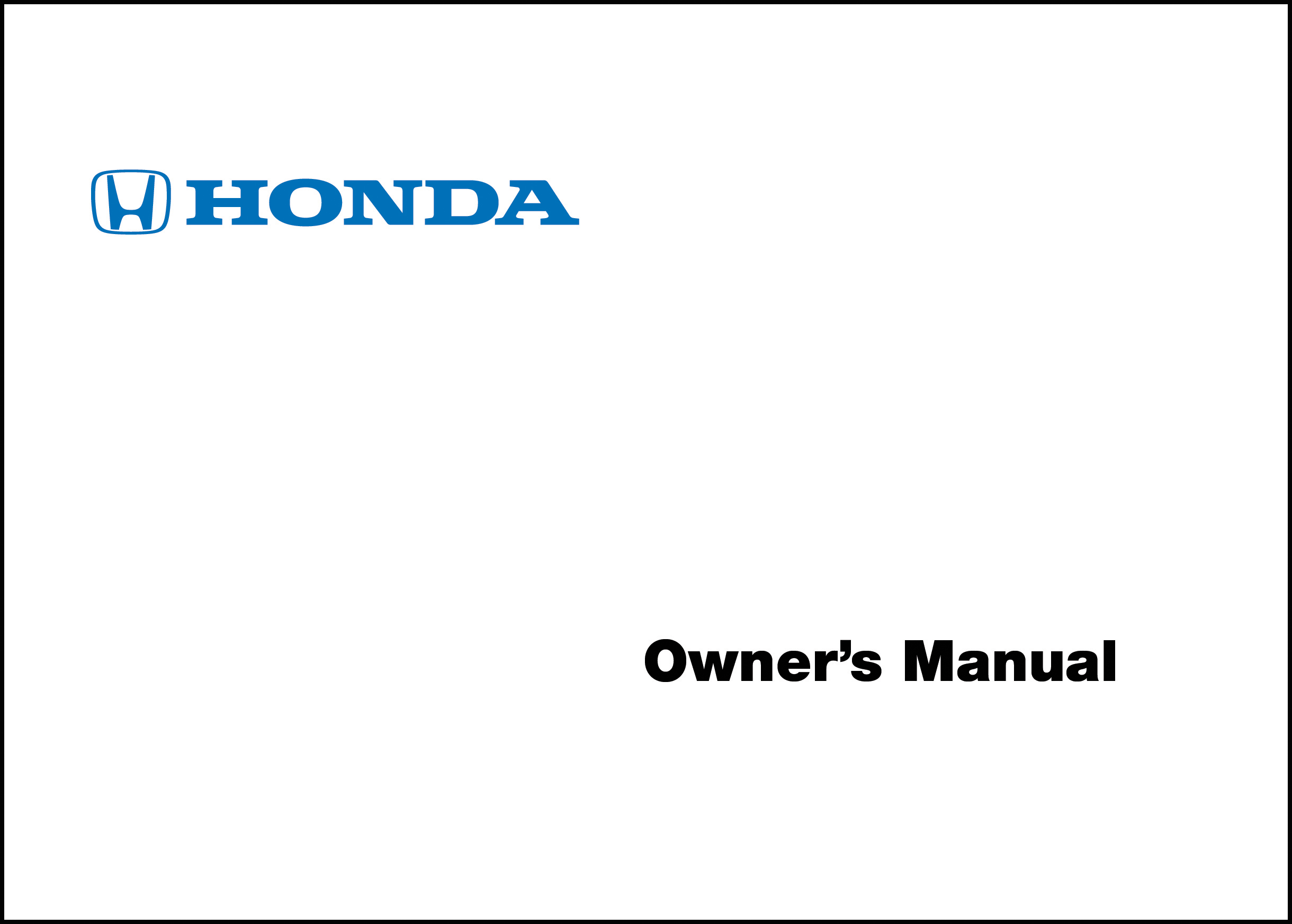 Honda 2001 Prelude Owner Manual 01