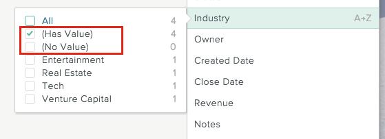 Use List filters - SalesforceIQ Help
