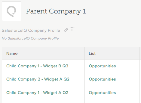 Track multiple relationships/opportunities for an Account