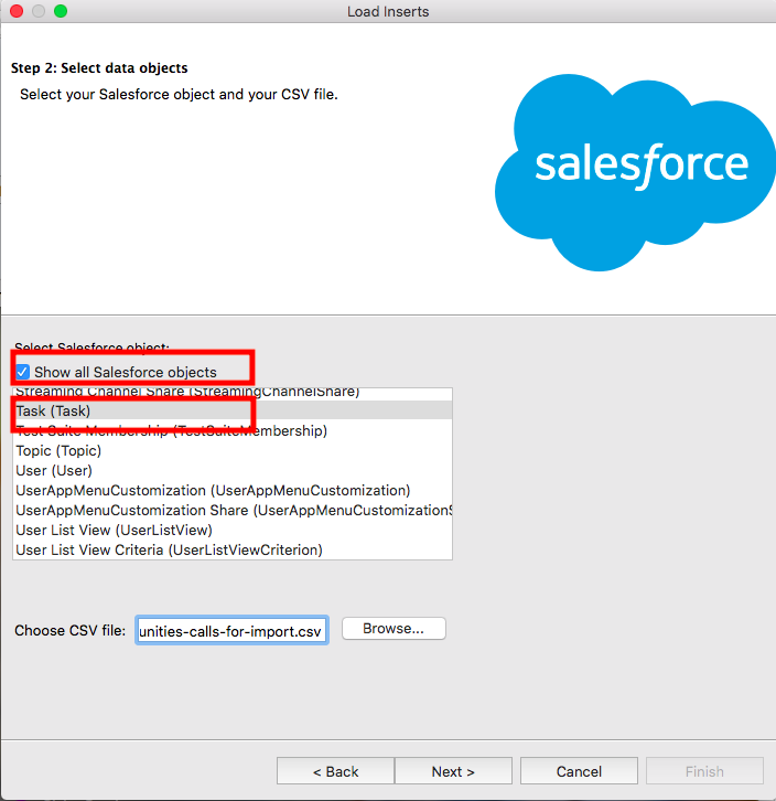 Import calls into Salesforce using Data Loader - SalesforceIQ Help