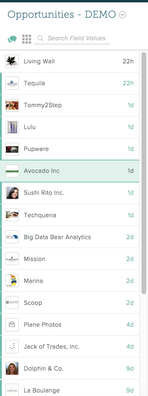 Lists - SalesforceIQ Help