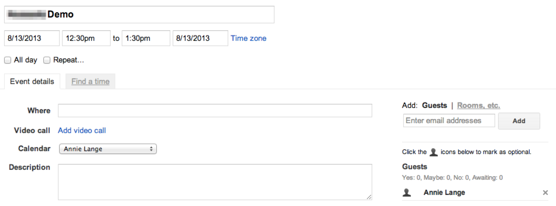 event1 view google calendar stream events salesforceiq help,Google Calendar Event Invite