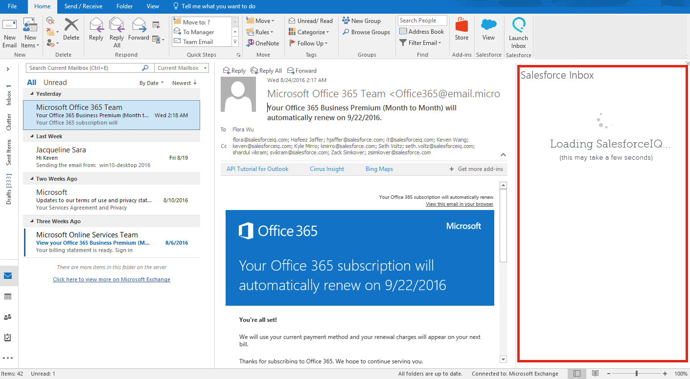 Outlook Add-In - SalesforceIQ Help