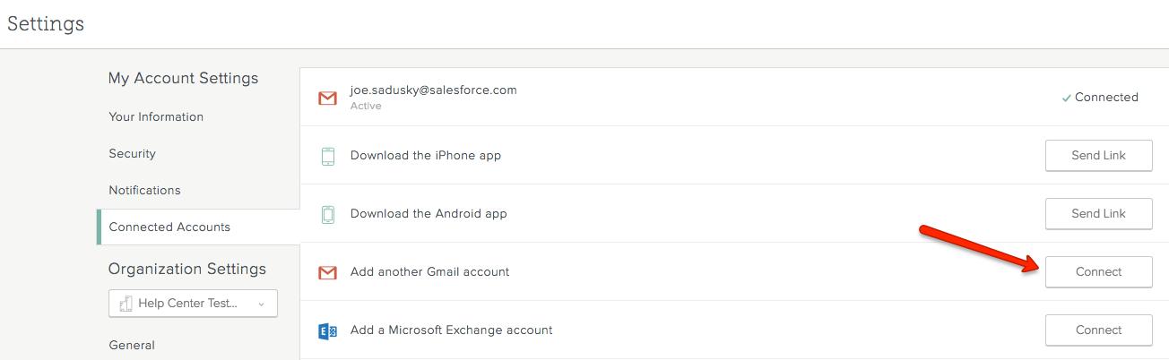 Change your company email address - SalesforceIQ Help