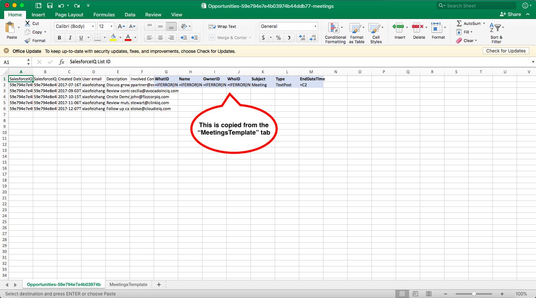 Import Data - SalesforceIQ Help