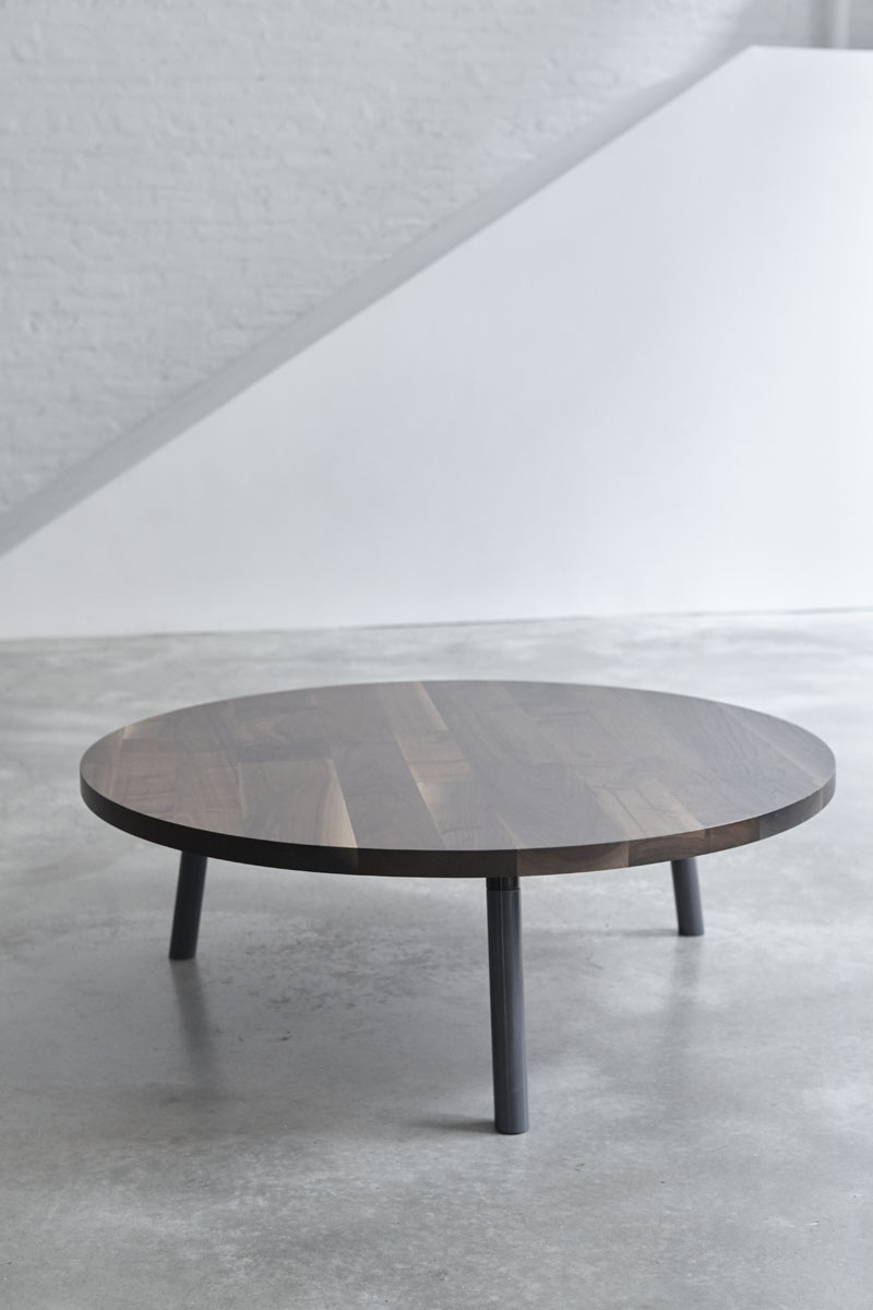 low round table solid wood low leg round table elongated circle storage table