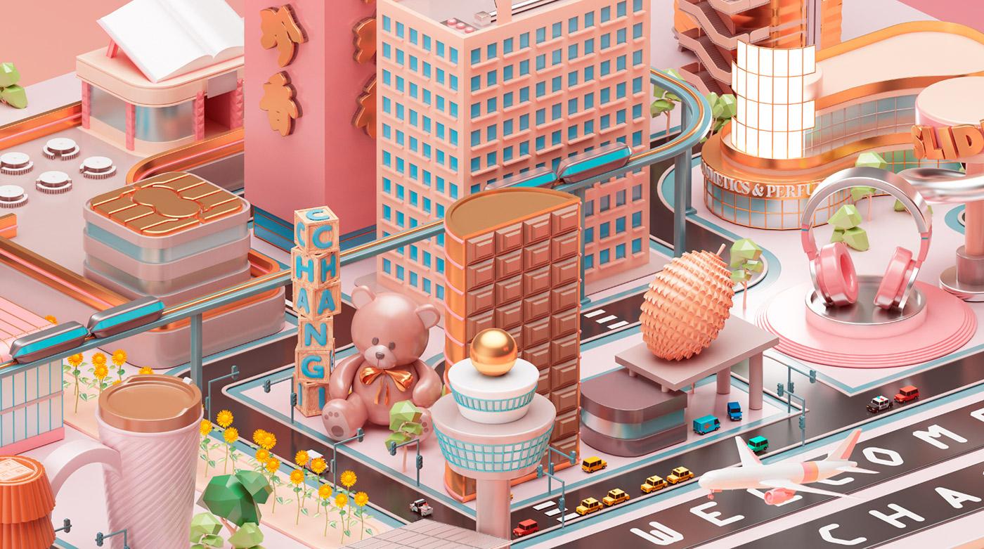 Mastercard City - 3D Design Inspiration by Peter Tarka and Mateusz Krol 2
