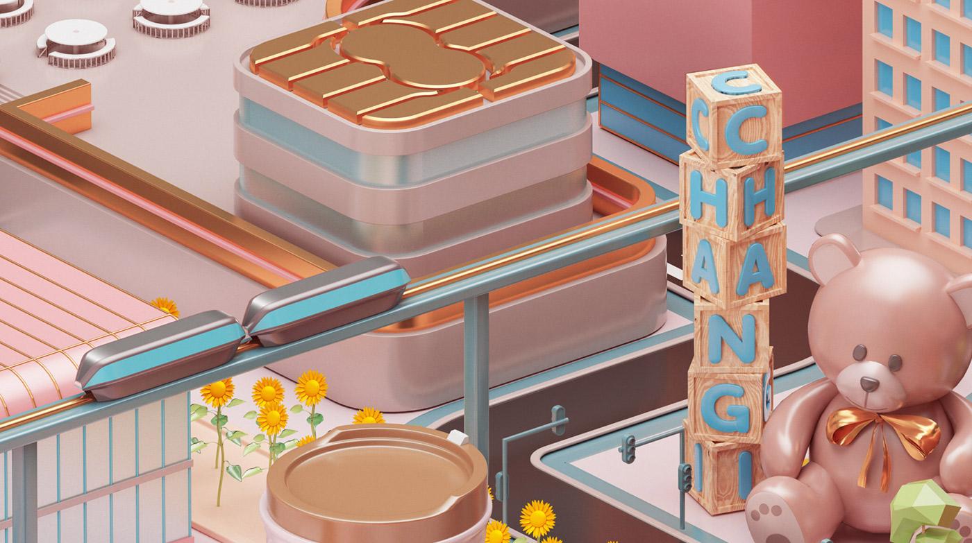 Mastercard City - 3D Design Inspiration by Peter Tarka and Mateusz Krol 3
