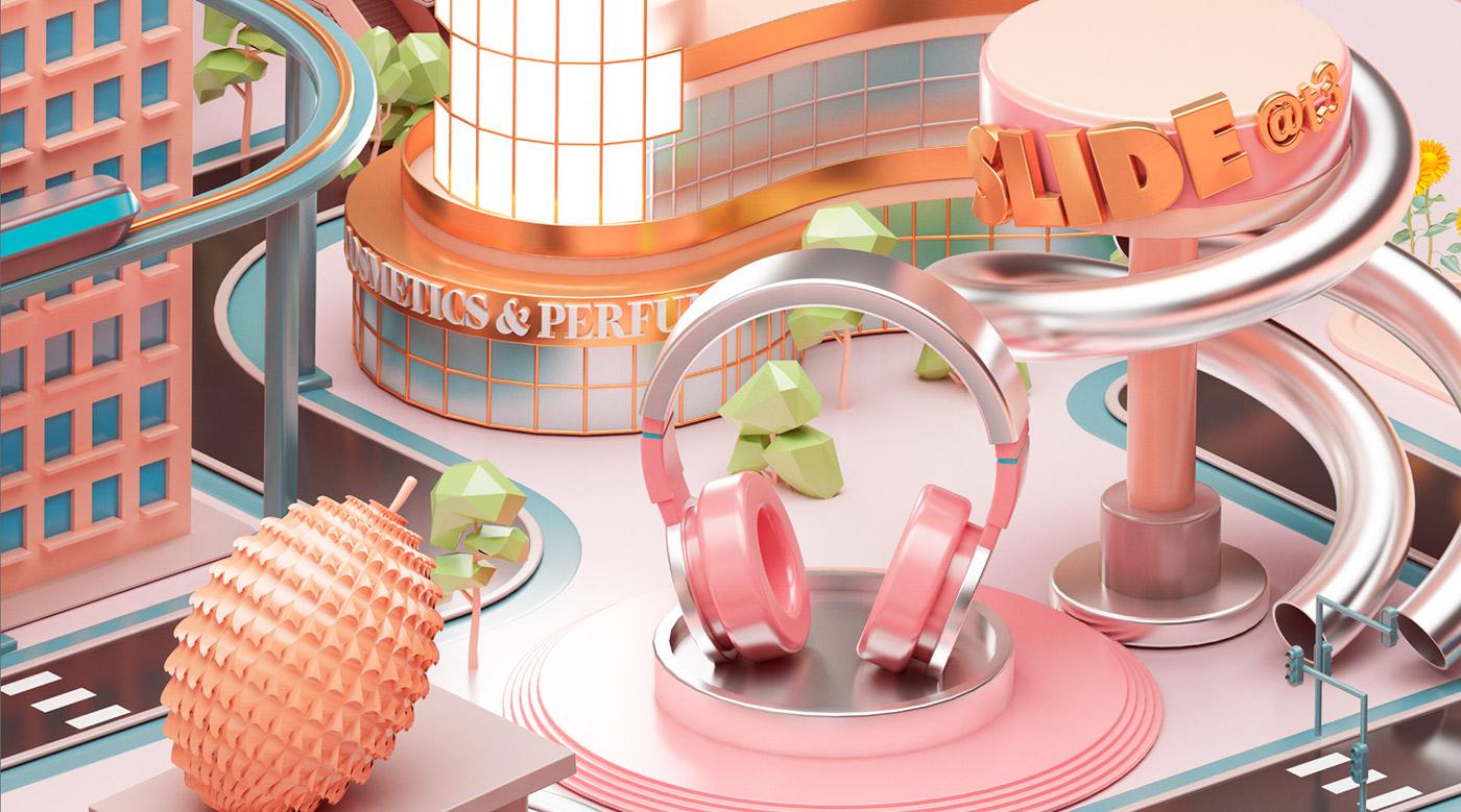 Mastercard City - 3D Design Inspiration by Peter Tarka and Mateusz Krol 4