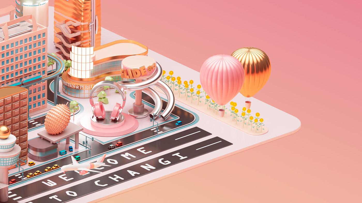 Mastercard City - 3D Design Inspiration by Peter Tarka and Mateusz Krol 5