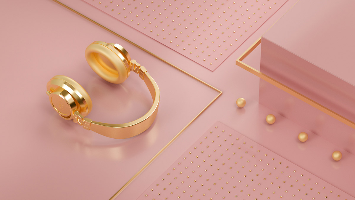 Gold, Gold & Gold - 3D Design Inspiration by Flava Creative