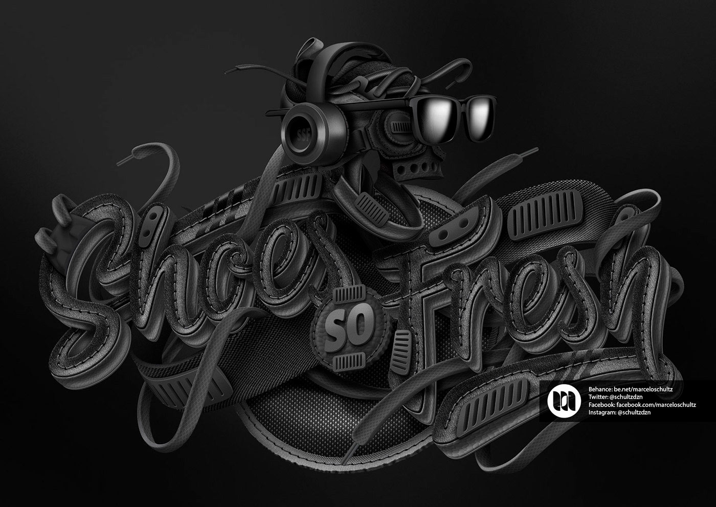 Shoes So Fresh - Typography & Illustration by Marcelo Schultz