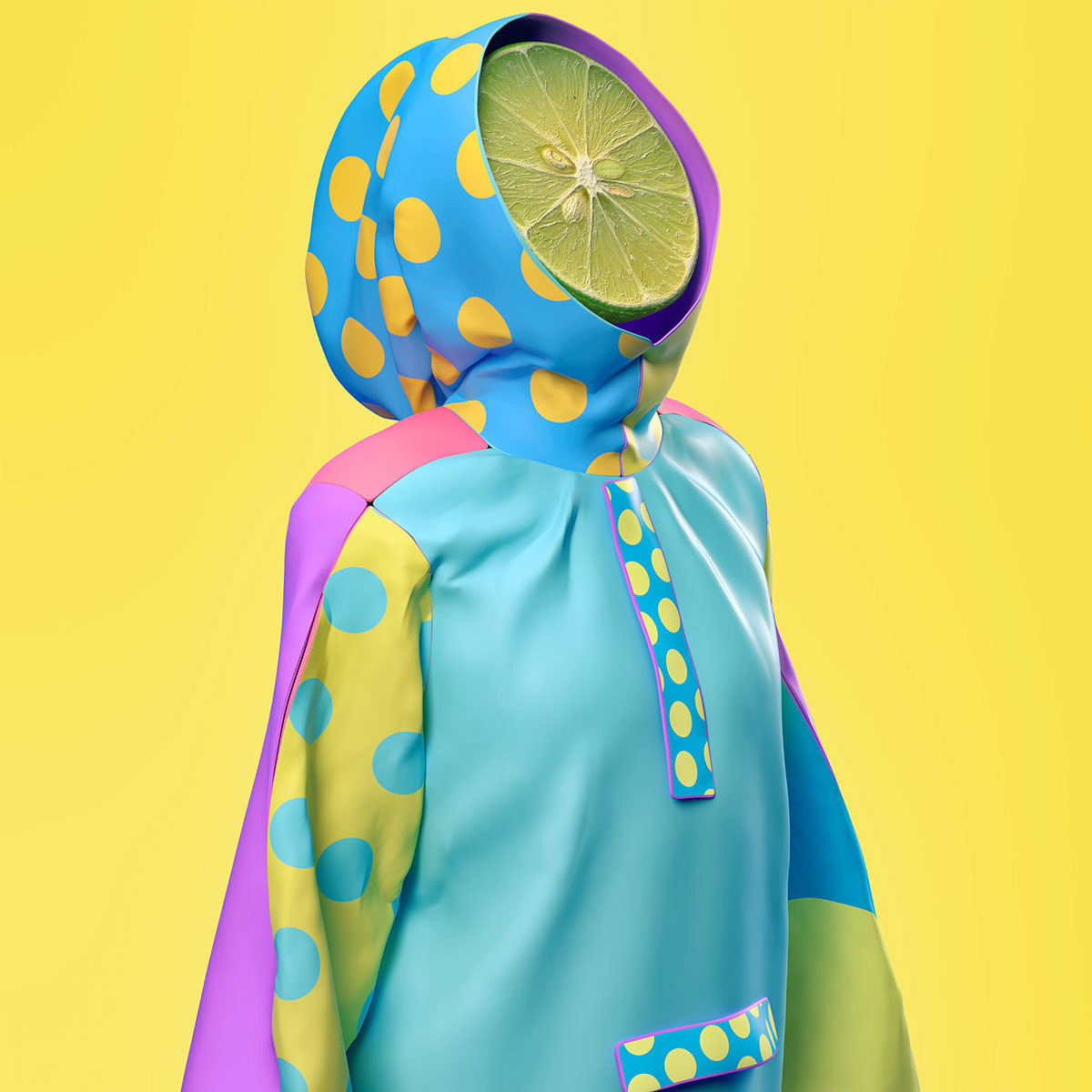 Pop Art Illustrations using 3D Design by Kota Yamaji