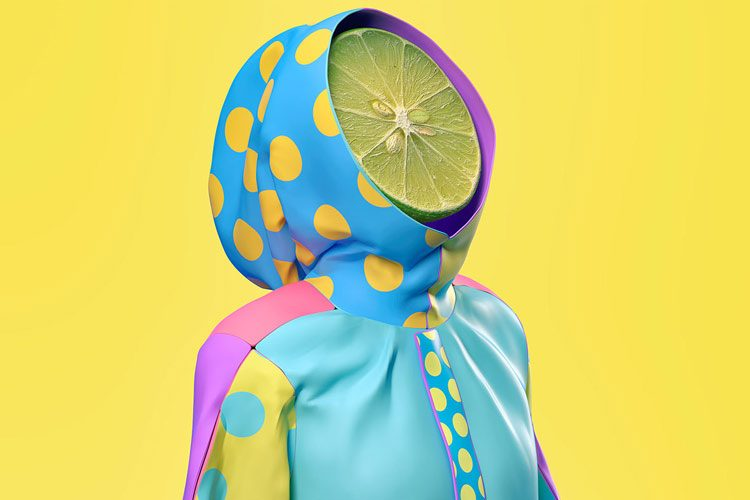 Pop Art and Surreal Art Illustrations using 3D Design by Kota Yamaji