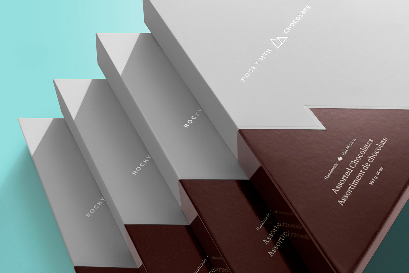 Rocky Mtn Chocolate Rebrand, Packaging and Store Design by by Wedge & Lever