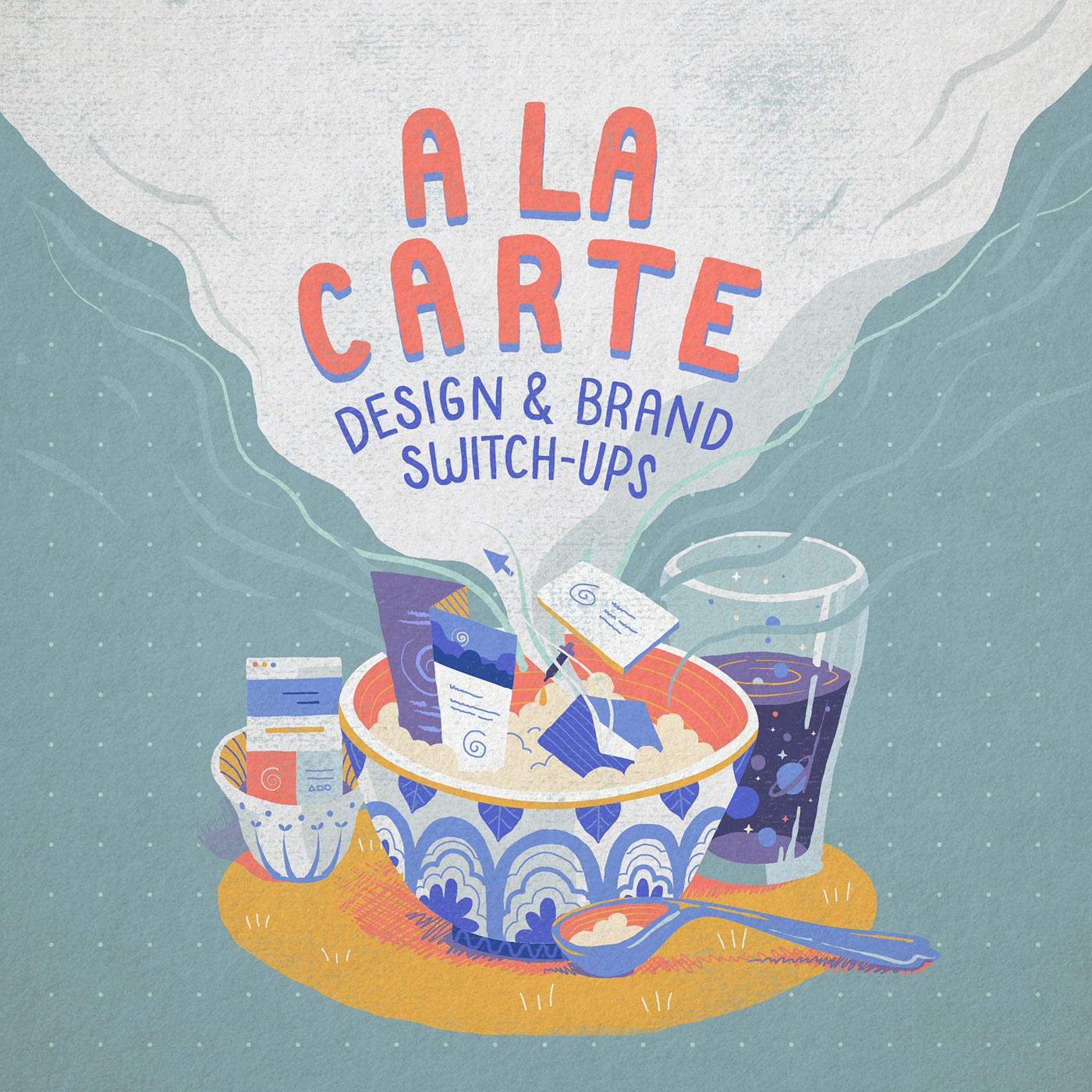 Illustrations and Typographic Designs - A collaboration of Lena Vargas with the ING Creatives Festival