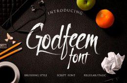 Free Item - Godfeem Script Font - Free Design Resources