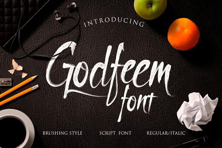 Free Item - Godfeem Script Font - Free Design Resources