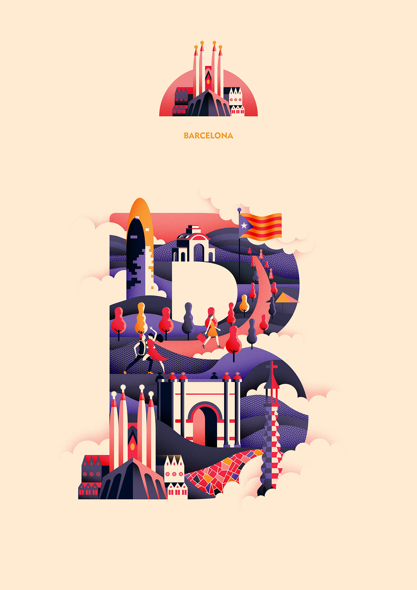 This Artist is Illustrating Letters of the Alphabet with Cities He Has Visited