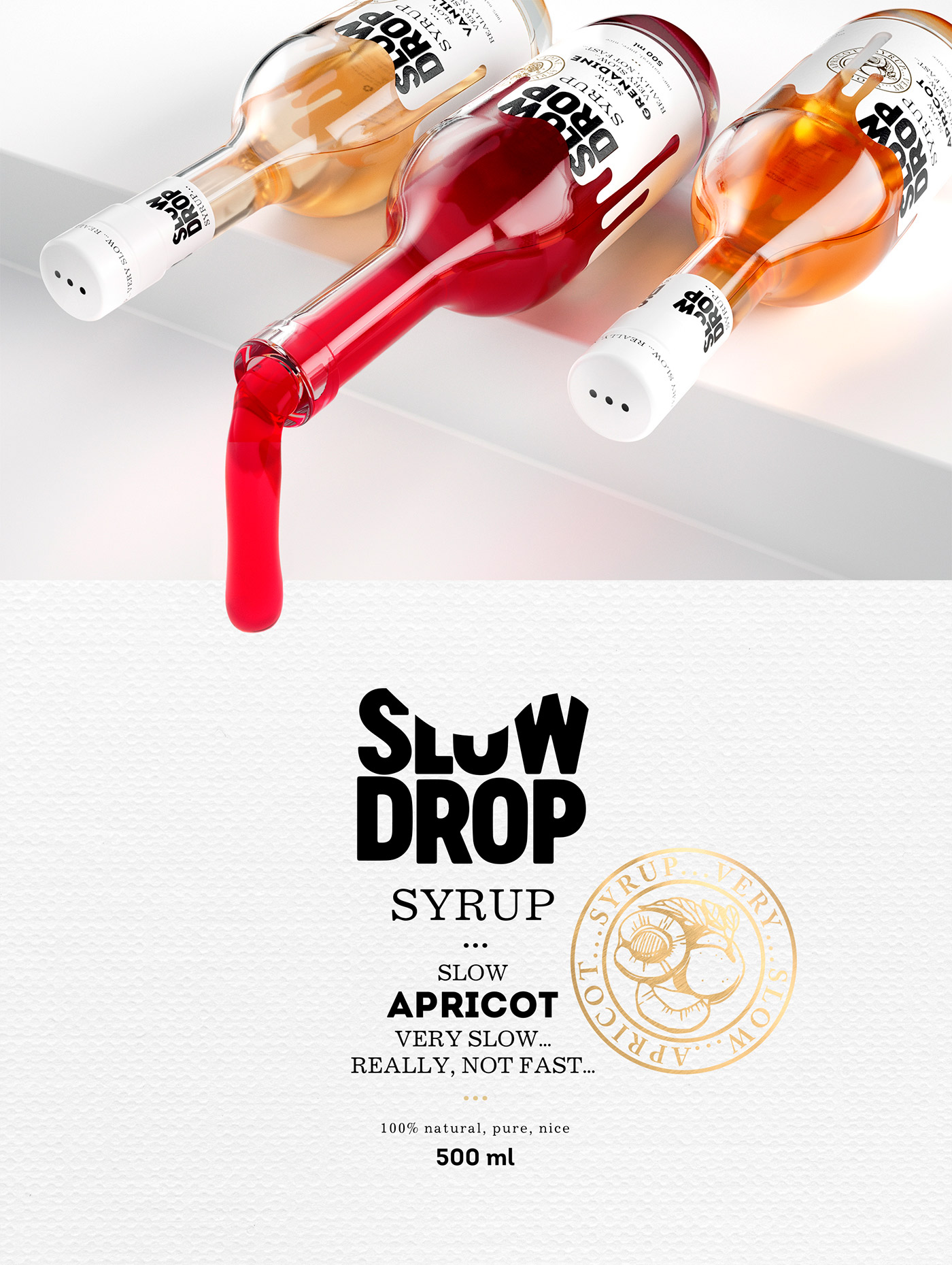 Packaging and Branding Inspiration: Slow drop by Stas Neretin