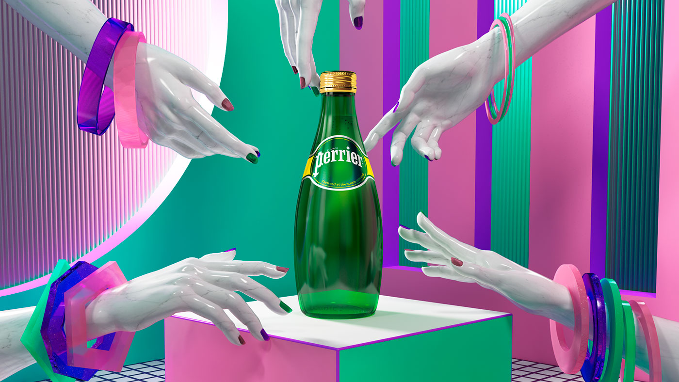 Sparkling Water, Different Universes & 3D Design - A Creative Project for Perrier