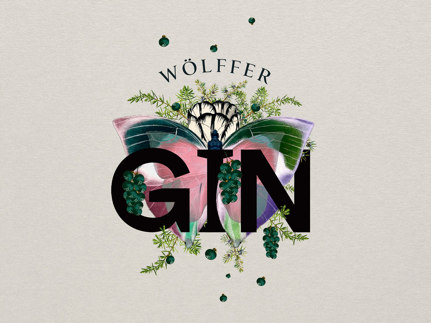 Graphic Design and Packaging - Wolffer Gin by IWANT design
