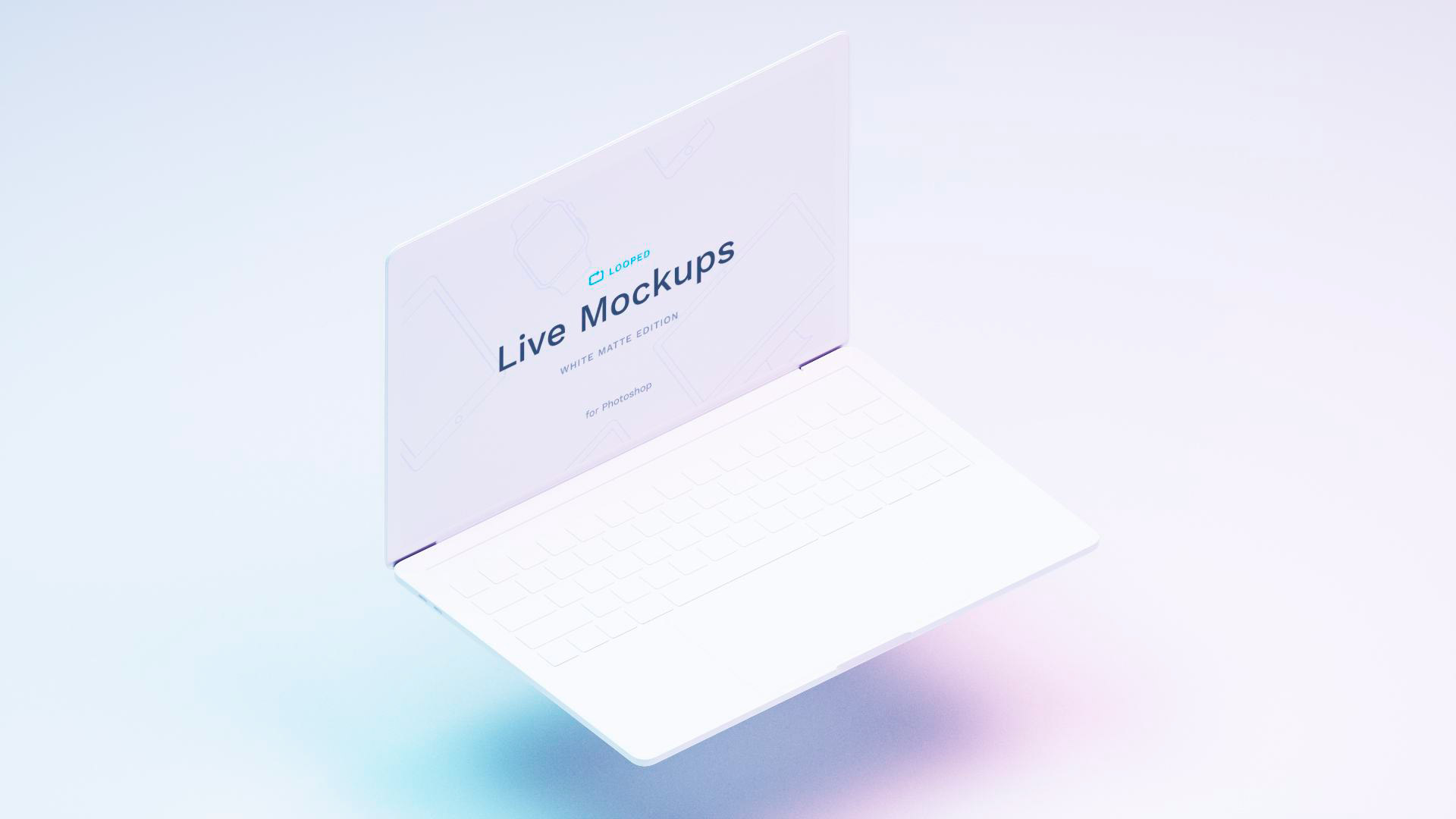 Free White Clay Apple Devices Mockups