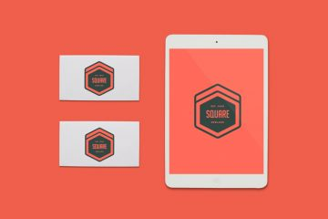 Free Design Resources - iPad & Business Cards Mockup